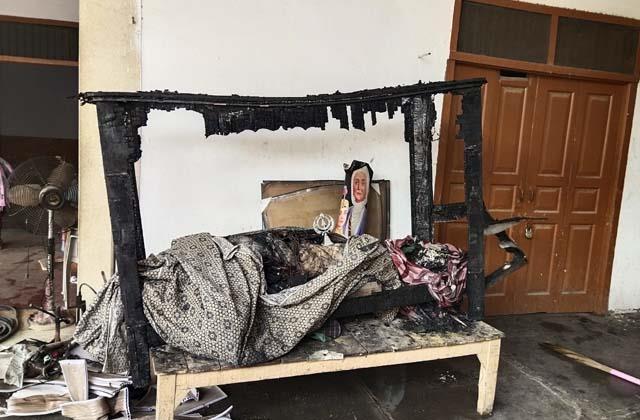 fire in gurdwara sahib
