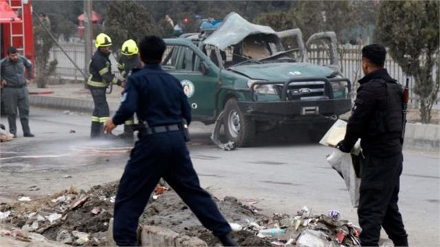 officials  mini van engine explosion fire kill 10 afghan civilians