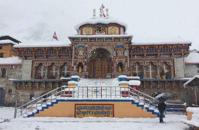 snowfall kedarnath badrinath