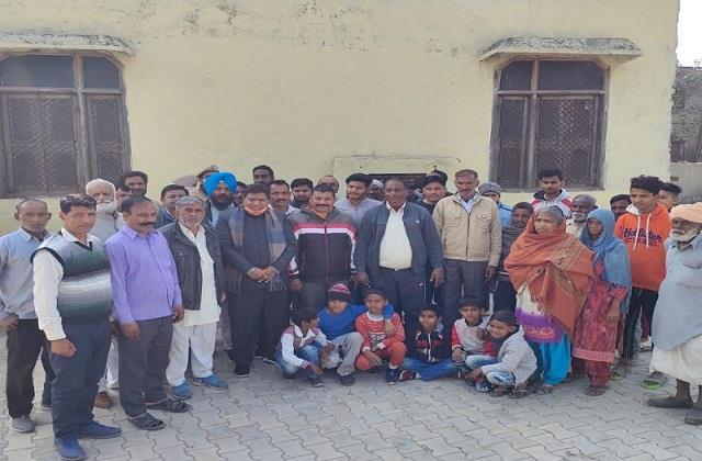 vidhan sabha speaker gyan chand gupta involved celebration of the villagers