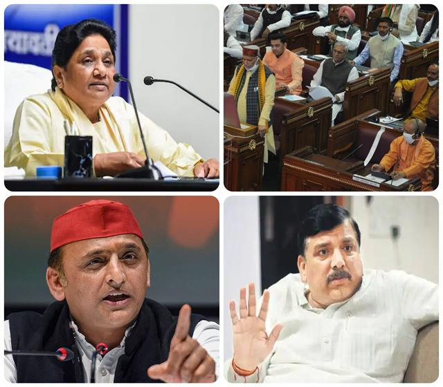 on the budget of the yogi government what did veteran leaders of opposition say
