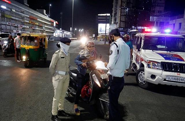 gujarat night curfew in four cities increased by 15 days