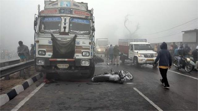 terrible accident happened on chandigarh ludhiana route
