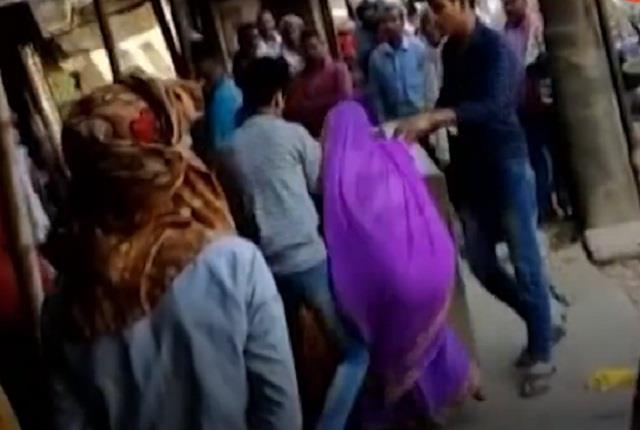 the bullies threw out a woman shopkeeper