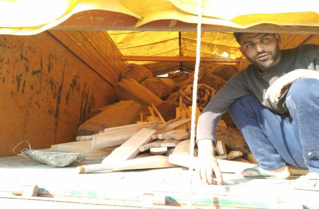 truck driver arrest with illegal bats in samba