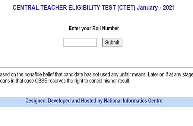 ctet 2021 result results of ctet exam released