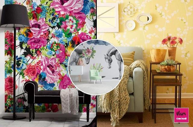 Summer Trend: स्टाइलिश लुक ही नहीं कमरे को ठंडक भी देंगे Flower वॉलपेपर