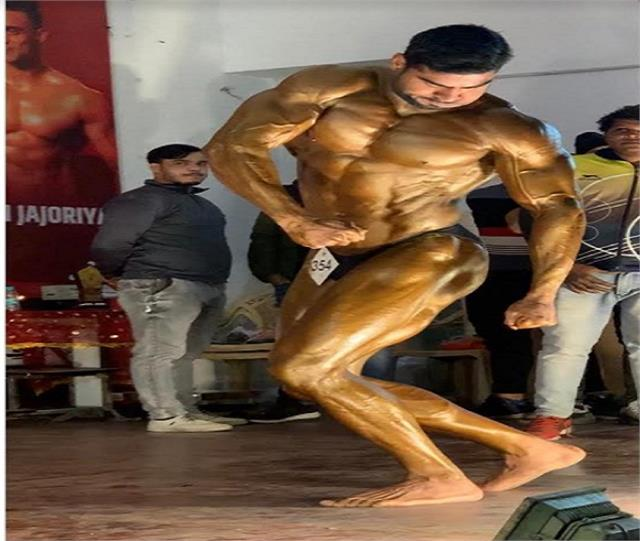 deepak solanki of bulandshahr won gold medal in body building competition
