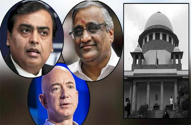 break in reliance future deal supreme court seeks answers on amazon s petition