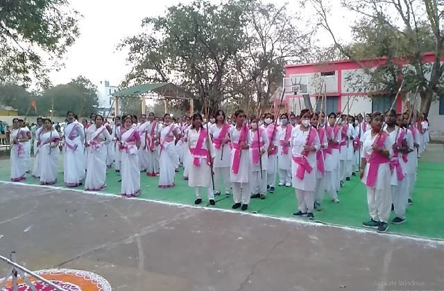 rss women s rally in hoshangabad