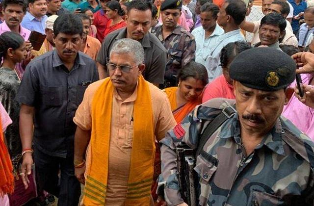 dilip ghosh black flag go back slogan