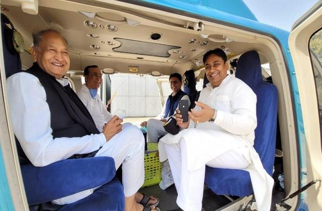 gehlot pilot in one helicopter