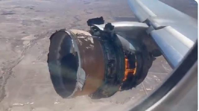 united boeing 777 suffers engine failure after takeoff