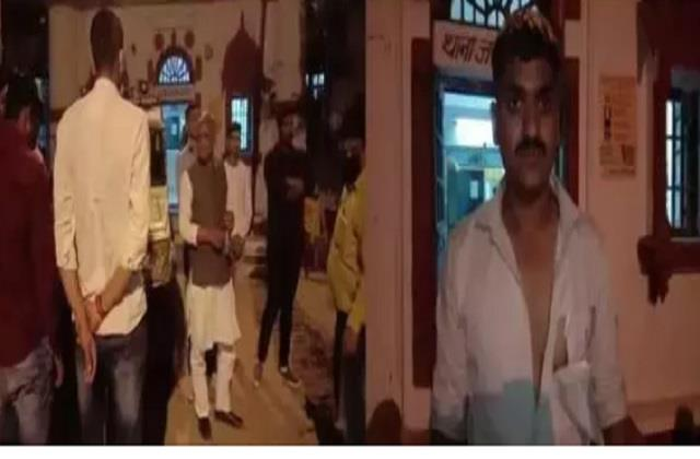 leader son clashed in gwalior