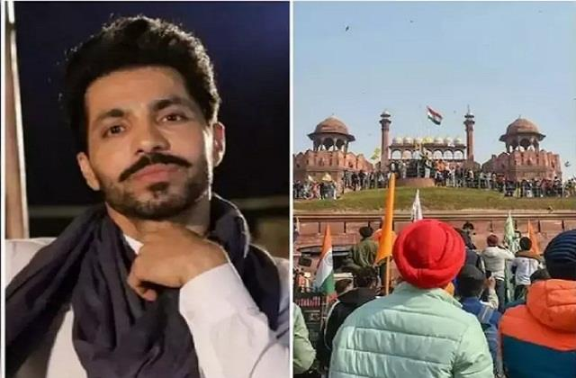 deep sidhu iqbal singh taken to red fort as part of republic day violence a