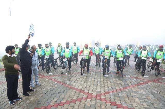gna university conducts cycling marathon