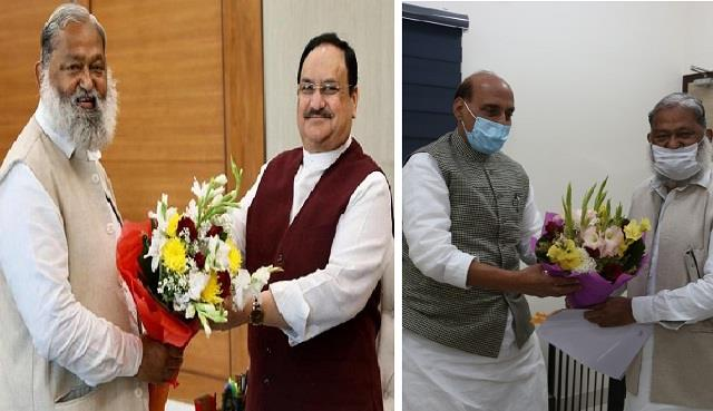vij meets nadda and rajnath