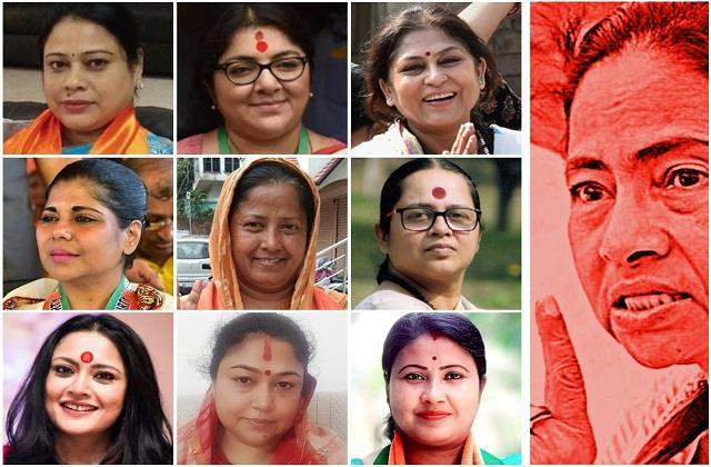 bjp released poster of women leaders targeting mamta