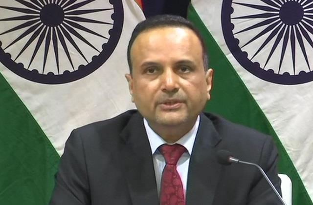 foreign ministry says  india wants normal relationship with pak