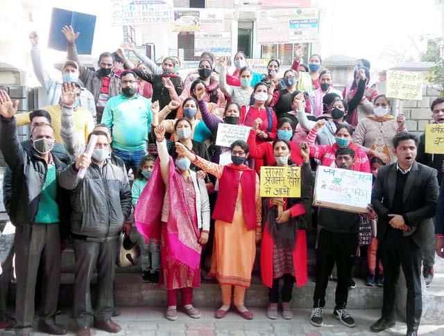 parents took out rally against private schools