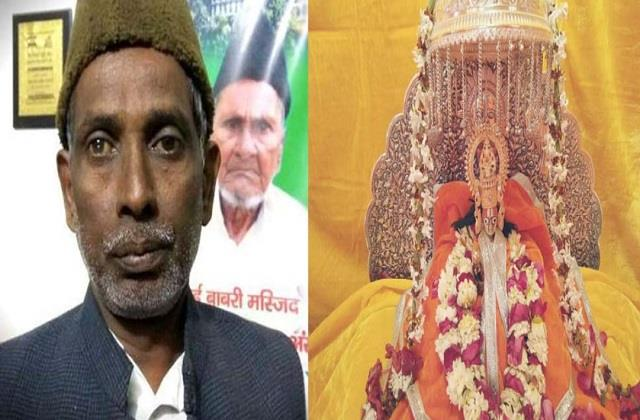 iqbal ansari wants to do shramdaan in construction of ram temple