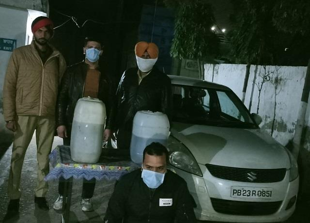 bjp leader s cousin arrested with illegal liquor