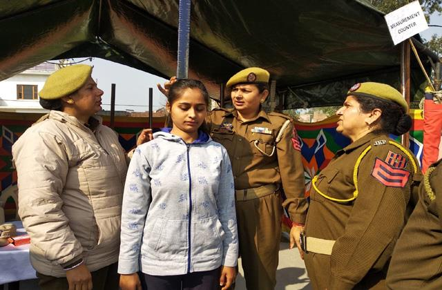 girls participate in spo recruitment rally kathua