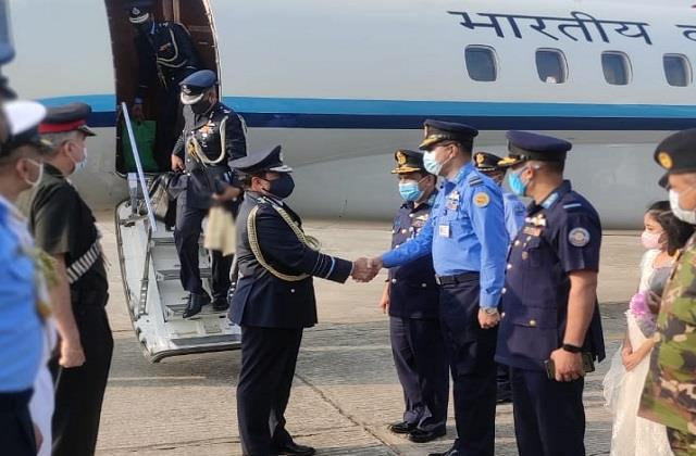 air force chief rk bhadauria arrives in bangladesh on a four day visit