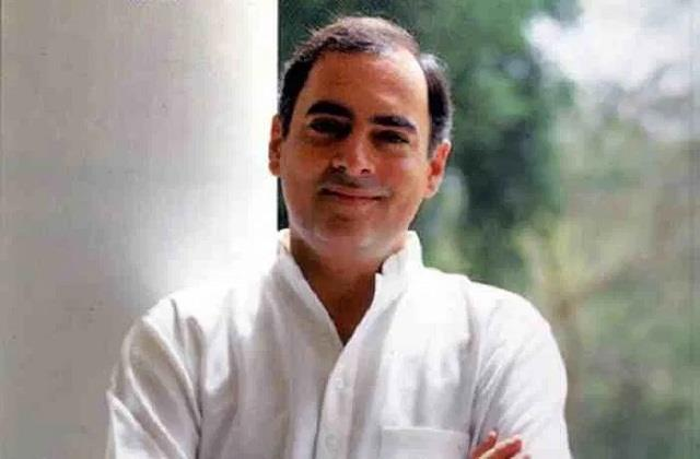 rahul gandhi should see the record of rajiv era