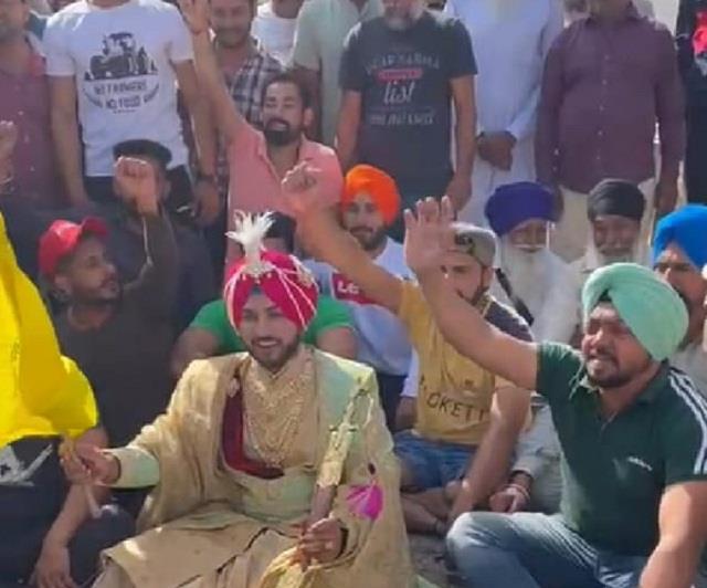 bharat band protest groom