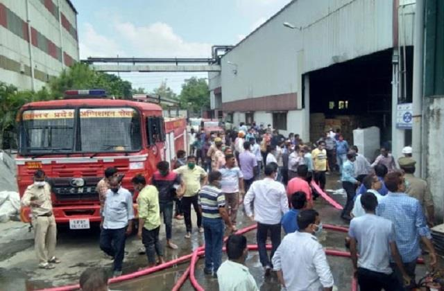 rampur distillery s bottling plant caught fire 6 people