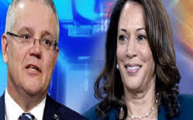 harris talks to australian pm discusses cooperation on china indo pacific