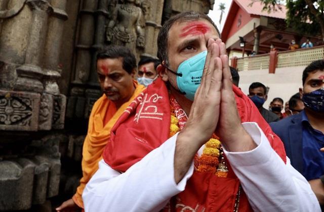 rahul gandhi kamakhya temple in guwahati election campaign assam