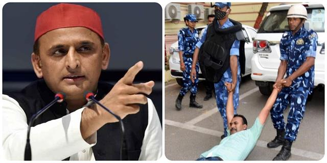 police invading mlas criminal act in bihar assembly akhilesh
