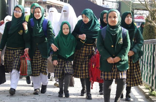 schools in 9th and 12th open after one year in kashmir