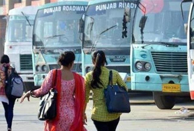 women travel in government buses
