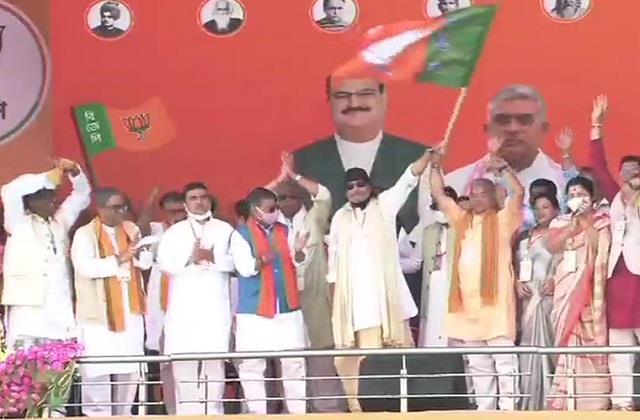 mithun chakravarthy pm modi rally
