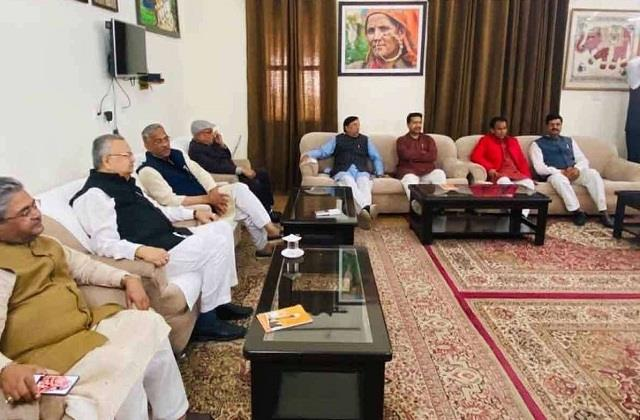 bjp core group meeting raised political temperature