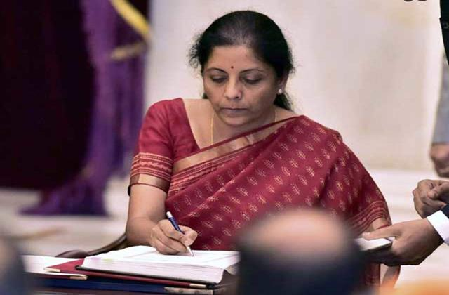 no additional burden will be placed on taxpayers for fiscal stimulus sitharaman