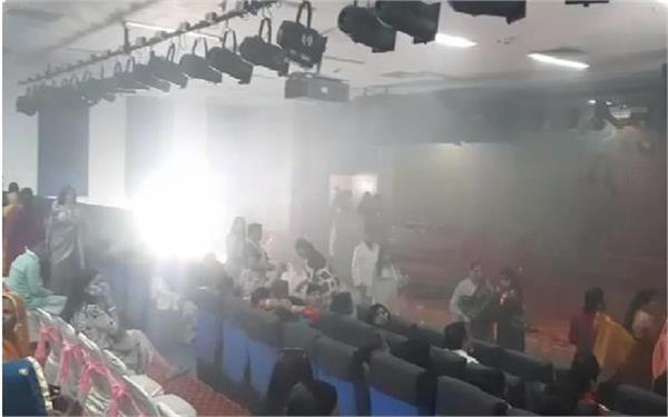incident during women s day event fire in auditorium due to short circuit