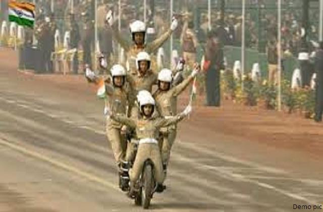 women police will perform bike stunts in state s 50 year journey