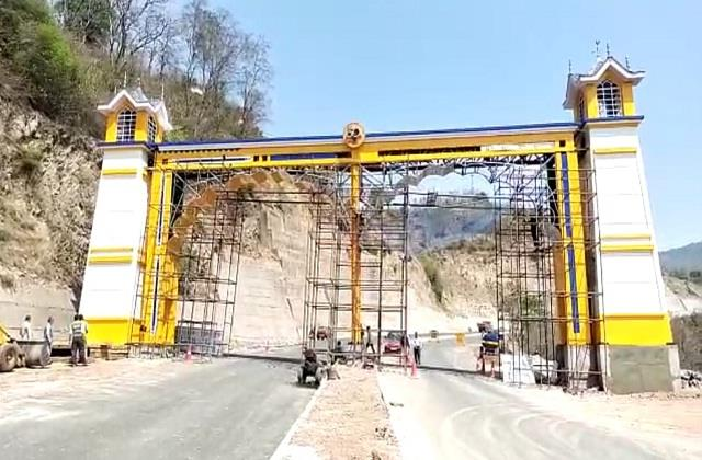 chief minister will inaugurate reception gate on punjab himachal border tomorrow