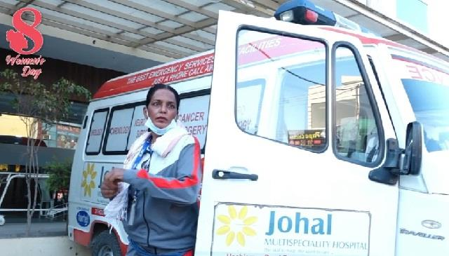 women s day  did not lose courage and became an ambulance driver