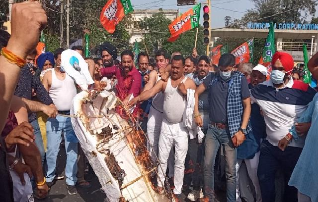 conflict averted in jalandhar bjp and farmers were going to be face to face