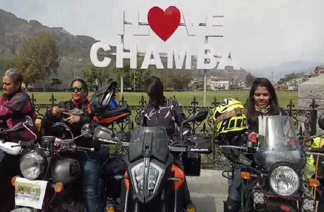 women s international motorcycle association team reached chamba