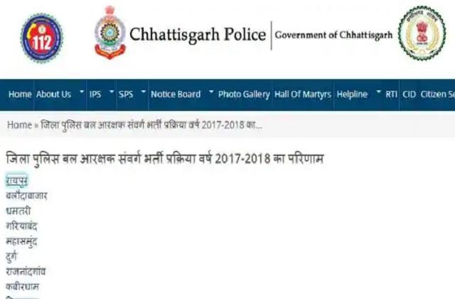 chhattisgarh police recruitment pet result released on cgpolice gov in