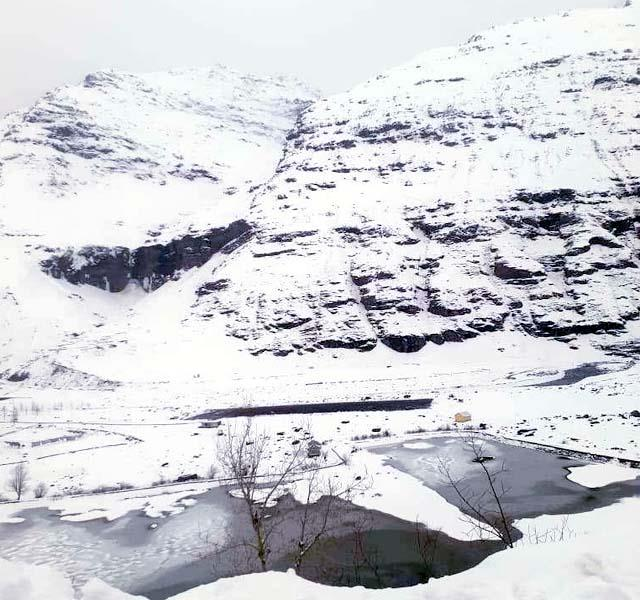 snowfall in kullu
