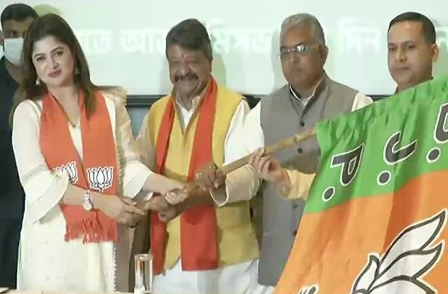 west bengal assembly election bengali actress sarbanti chatterjee joins bjp