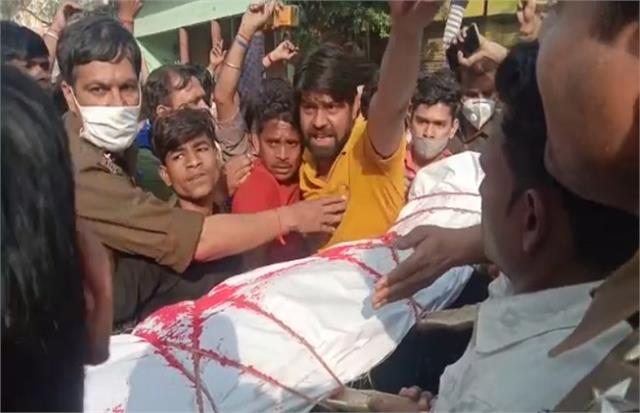 dalit teenager was strangled to death in aligarh post mortem rape not confirmed