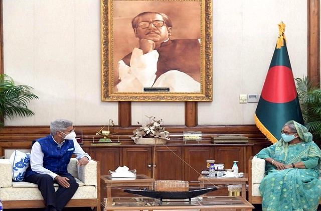 external affairs minister s jaishankar meets bangladesh pm sheikh hasina